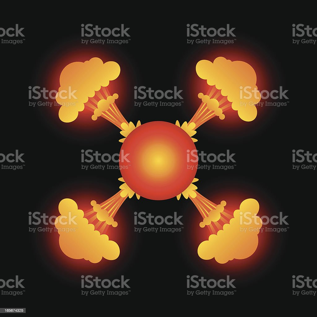 Atomic Fireball royalty-free stock vector art
