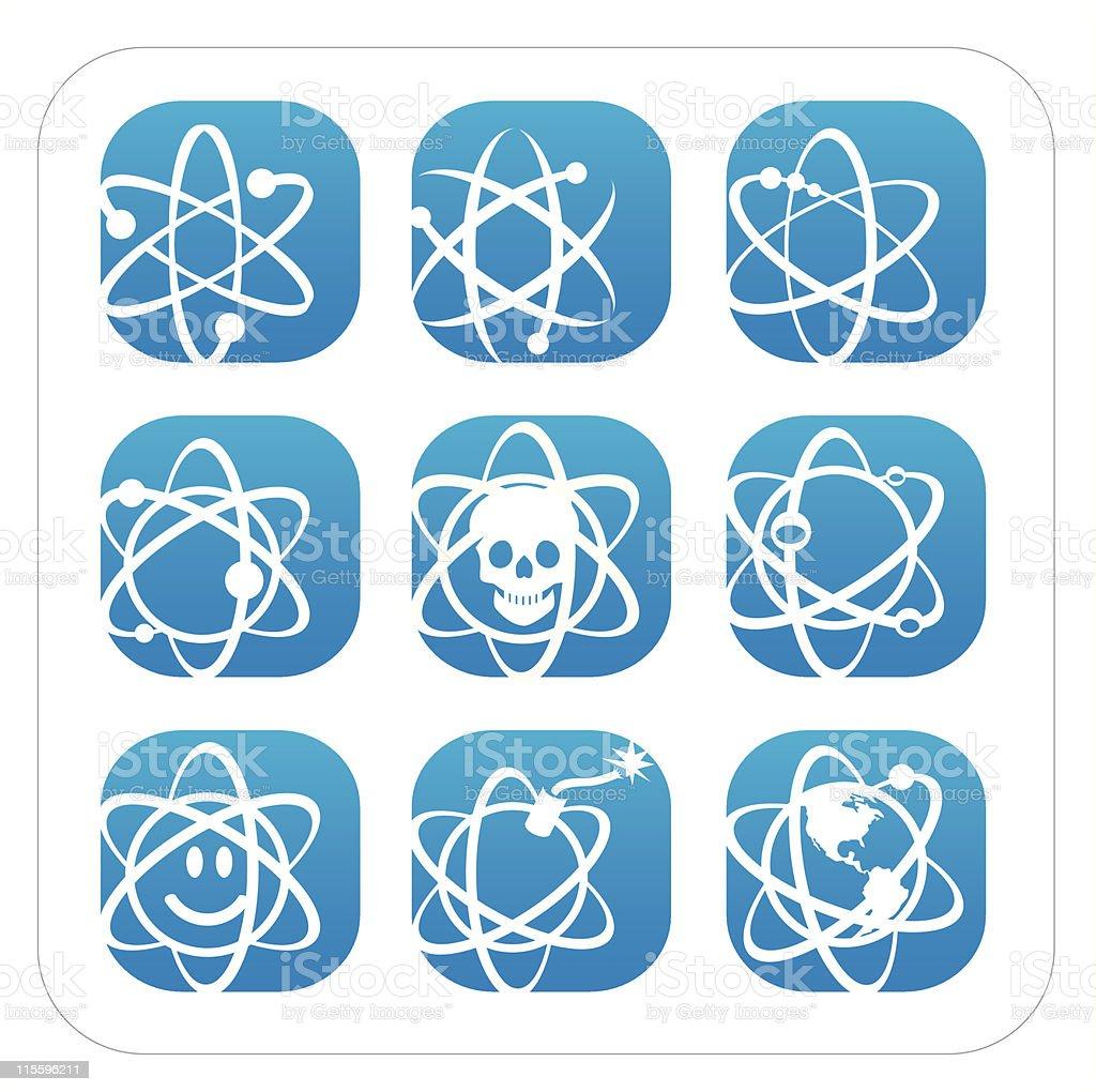 Atomic Icons vector art illustration