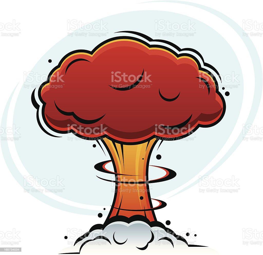 Atomic Mushroom Cloud vector art illustration