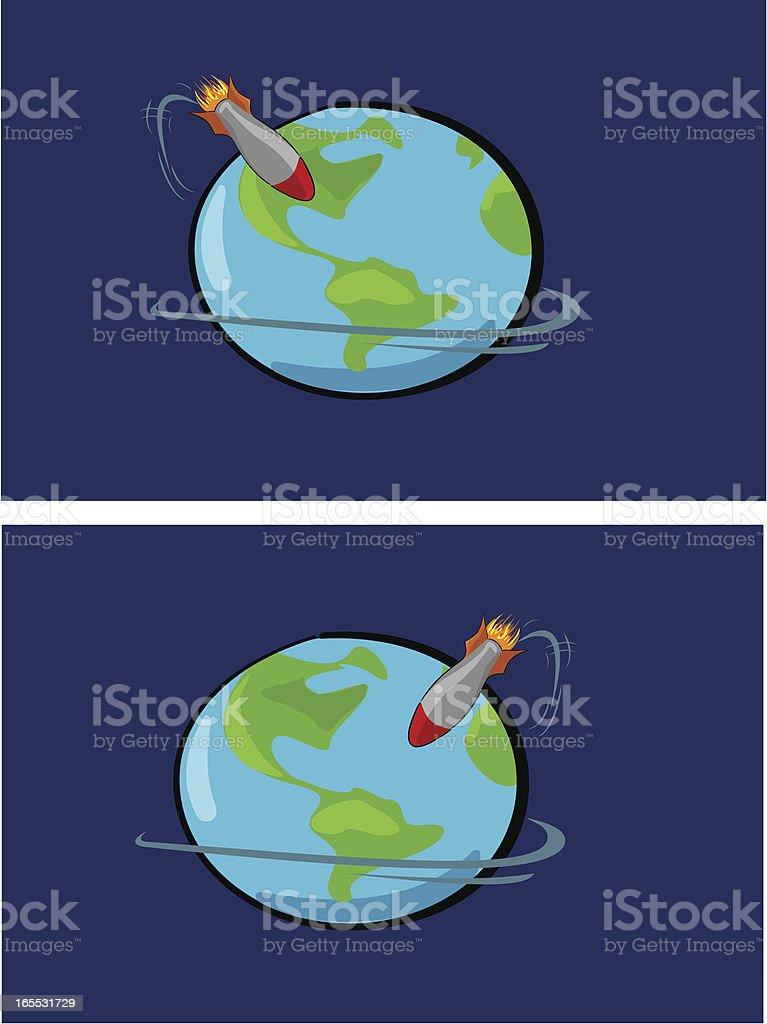 atomic war vector art illustration
