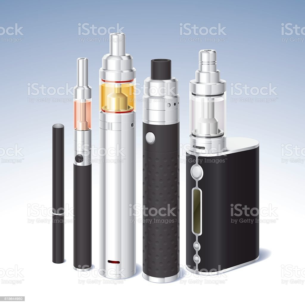 atomizer set vector art illustration