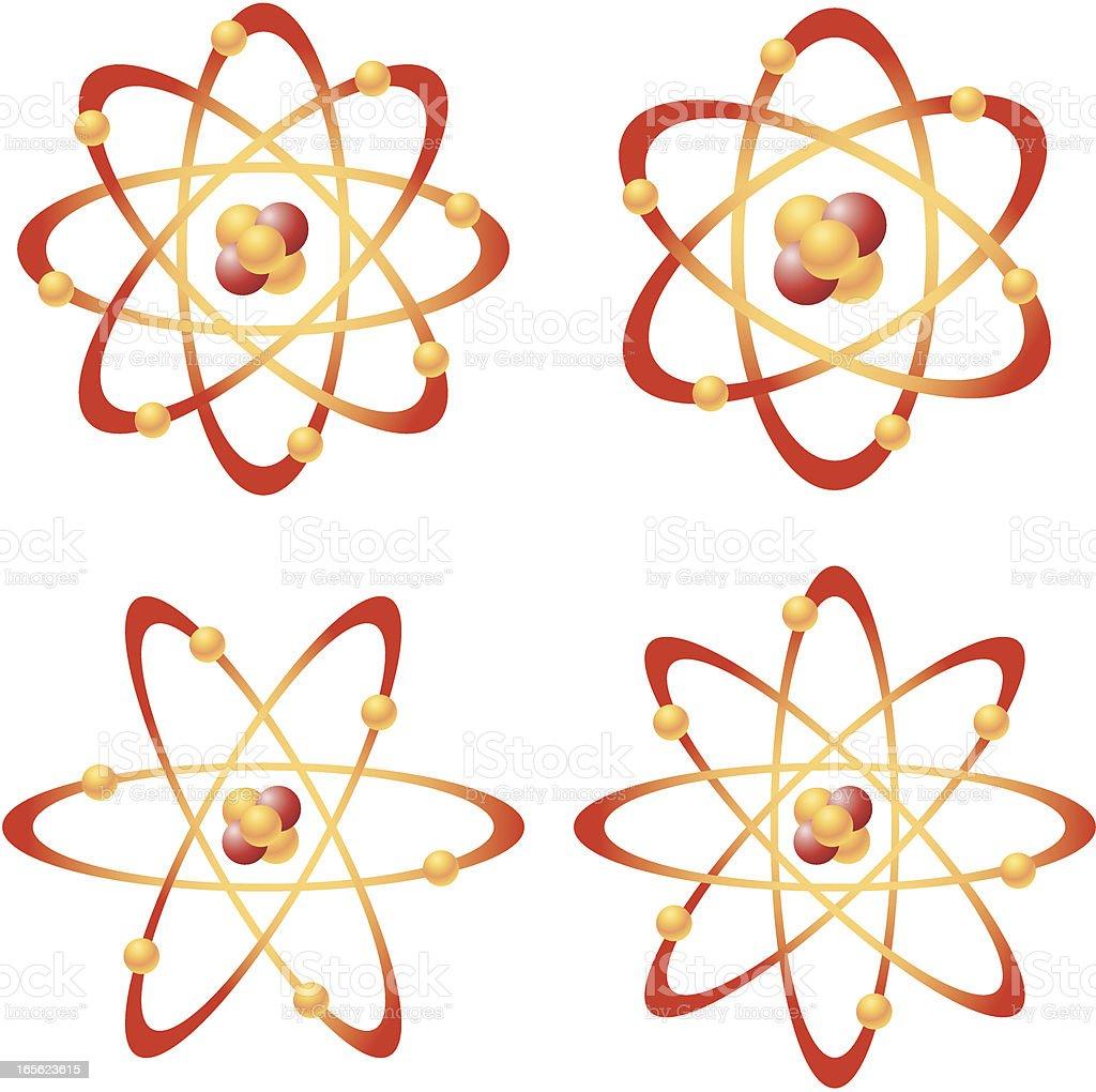 Atoms royalty-free stock vector art