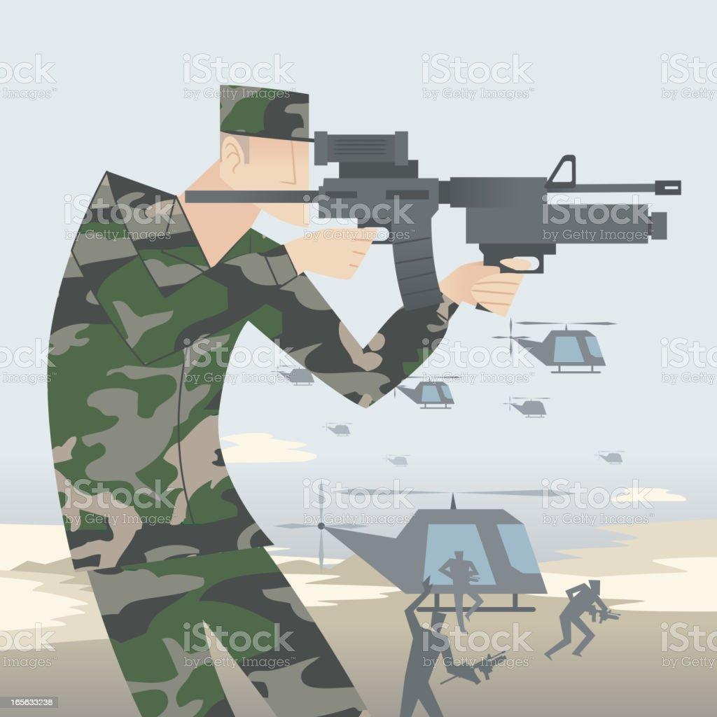 Attack! royalty-free stock vector art