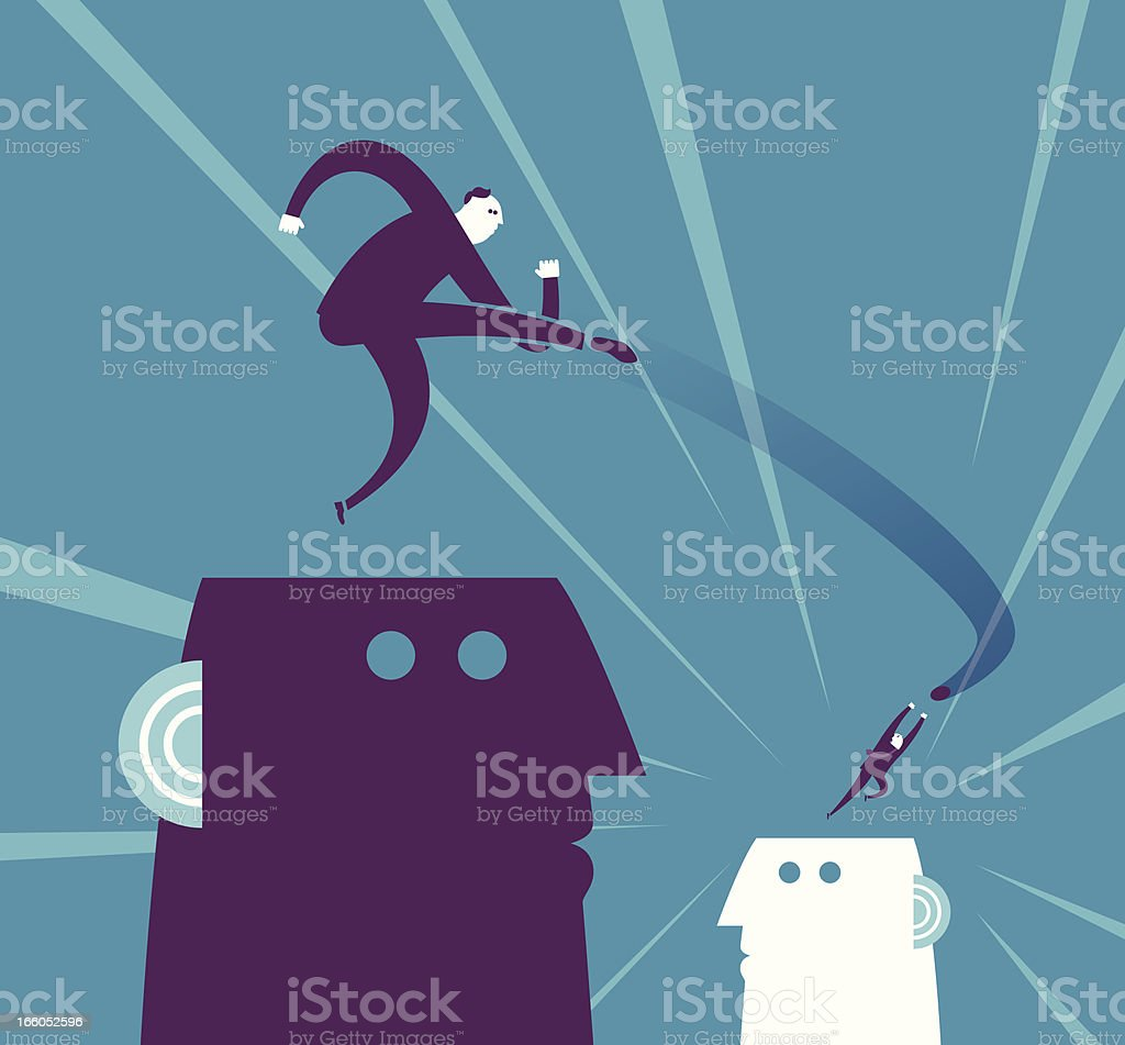 Attacking & Defending royalty-free stock vector art