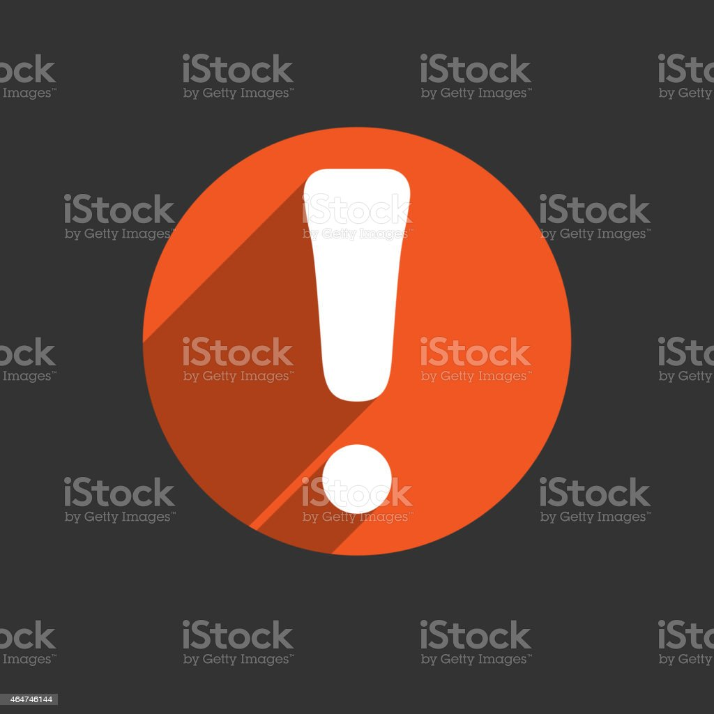 Attention caution sign icon. Exclamation mark. Hazard warning symbol. Four vector art illustration