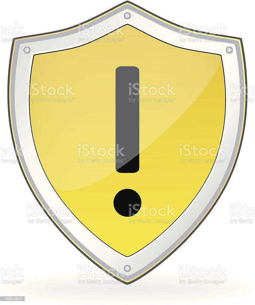 Attention Mark Shield royalty-free stock vector art