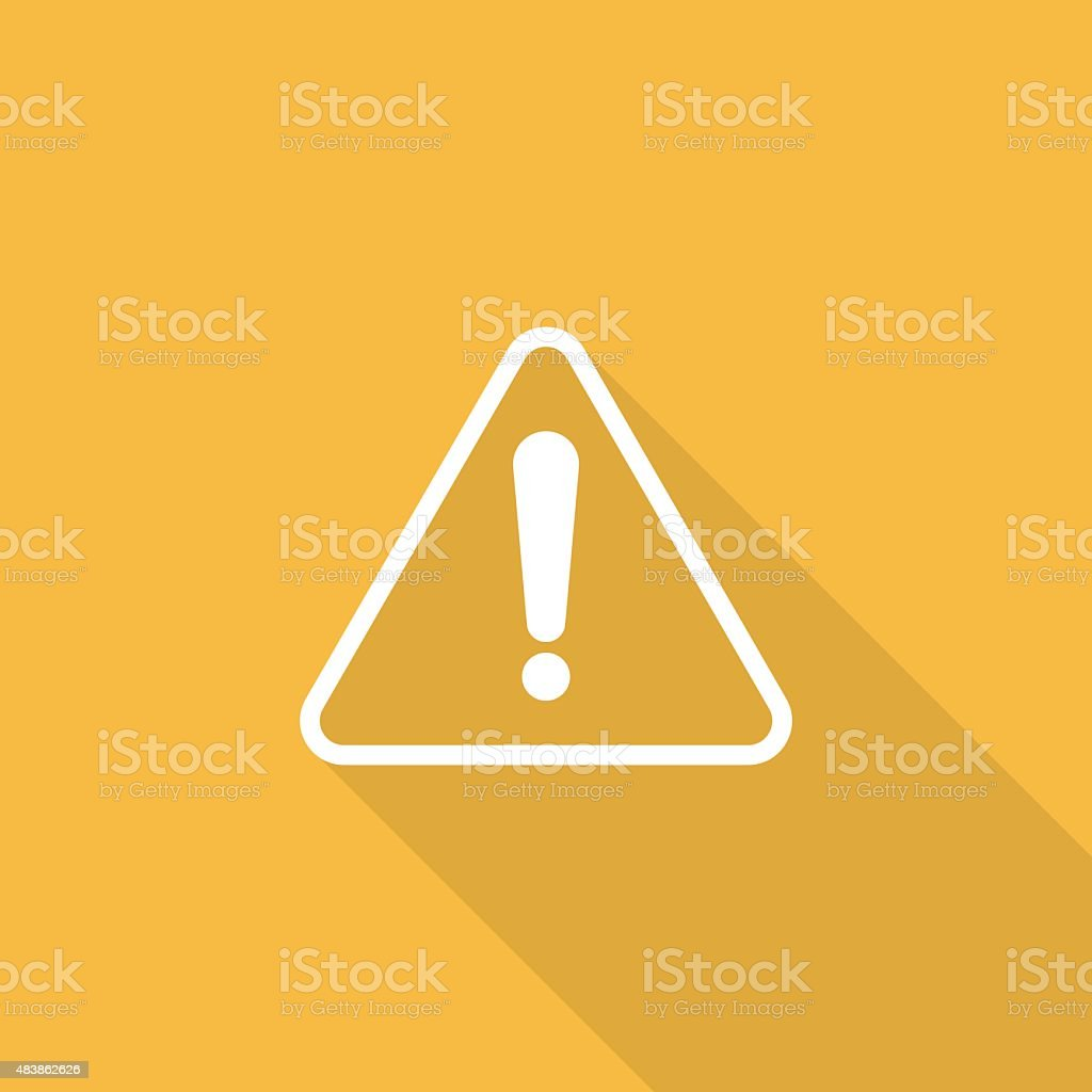 attention sign icon vector art illustration
