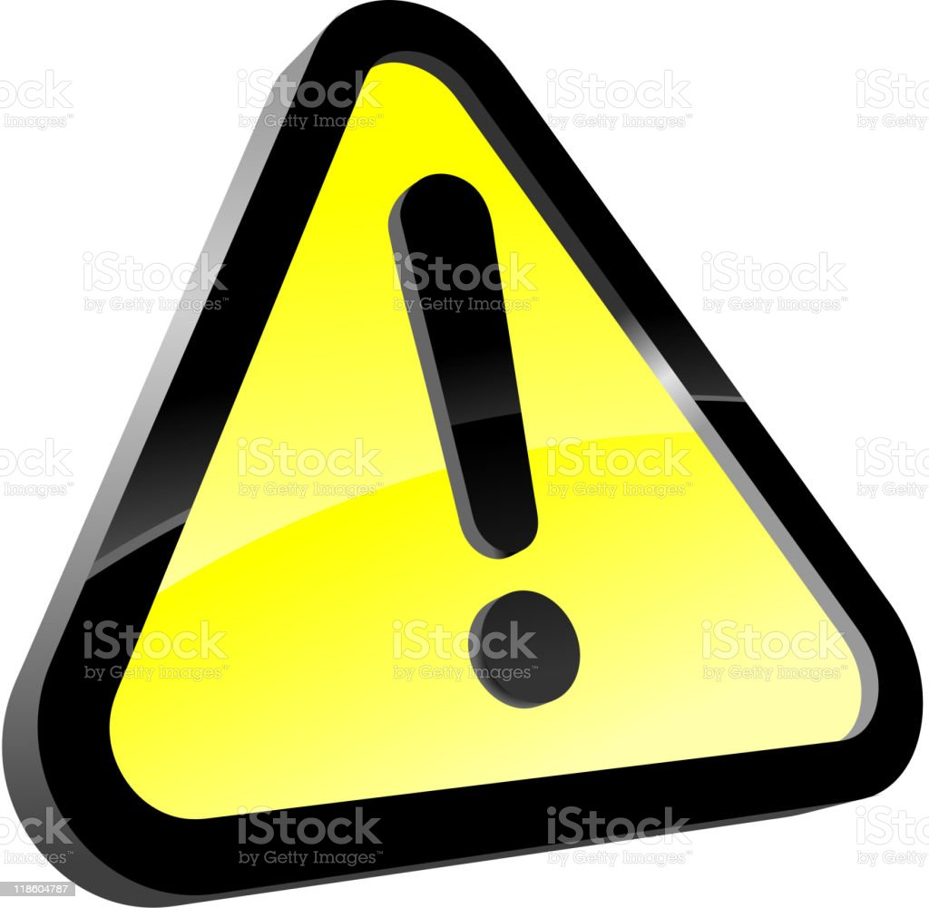 Attention sign royalty-free stock vector art