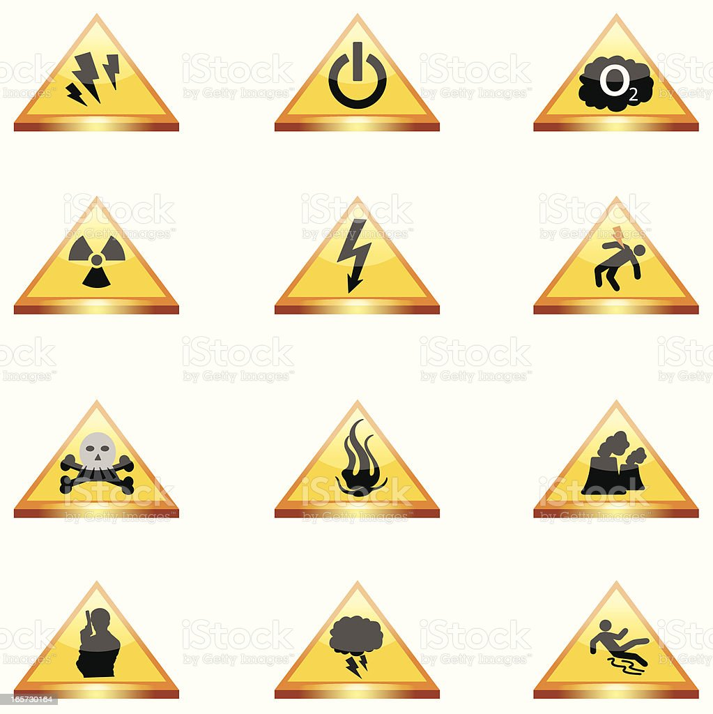 Attention signs royalty-free stock vector art