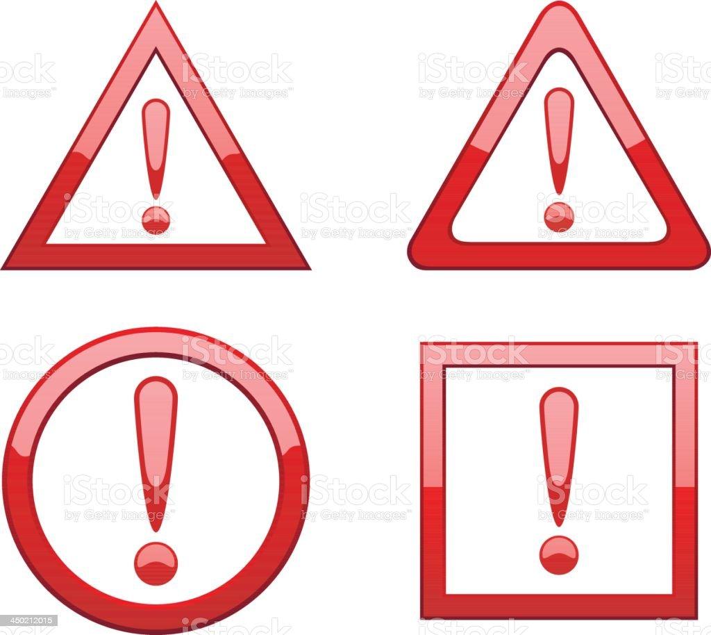 Attention signs vector art illustration