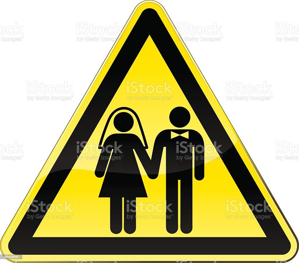 Attention wedding! royalty-free stock vector art