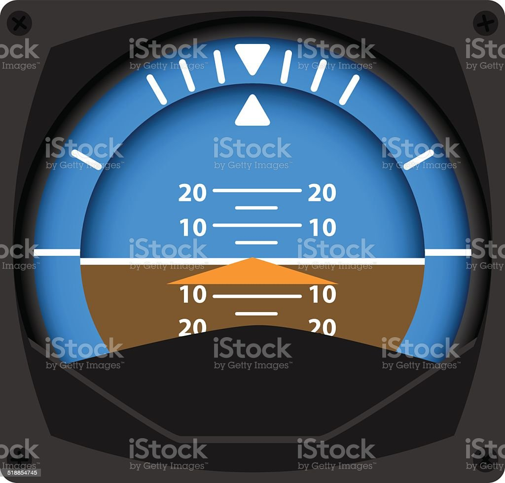 Attitude Indicator vector art illustration