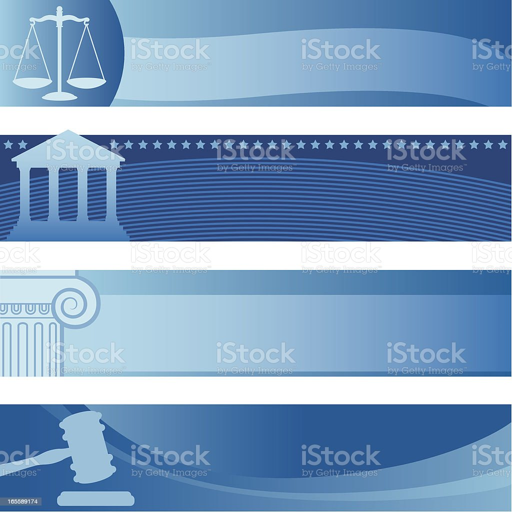 Attorney Banners royalty-free stock vector art