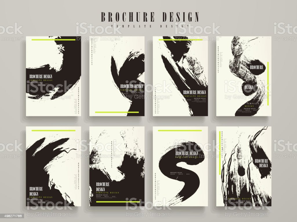 attractive brochure template vector art illustration