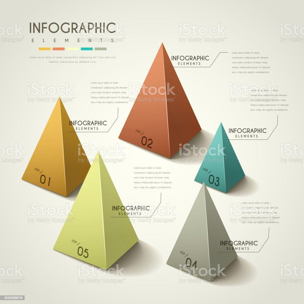 attractive infographic design vector art illustration