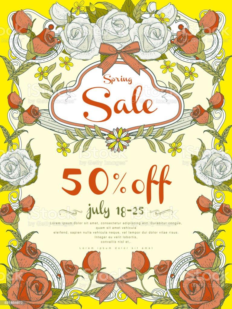attractive sale poster design vector art illustration
