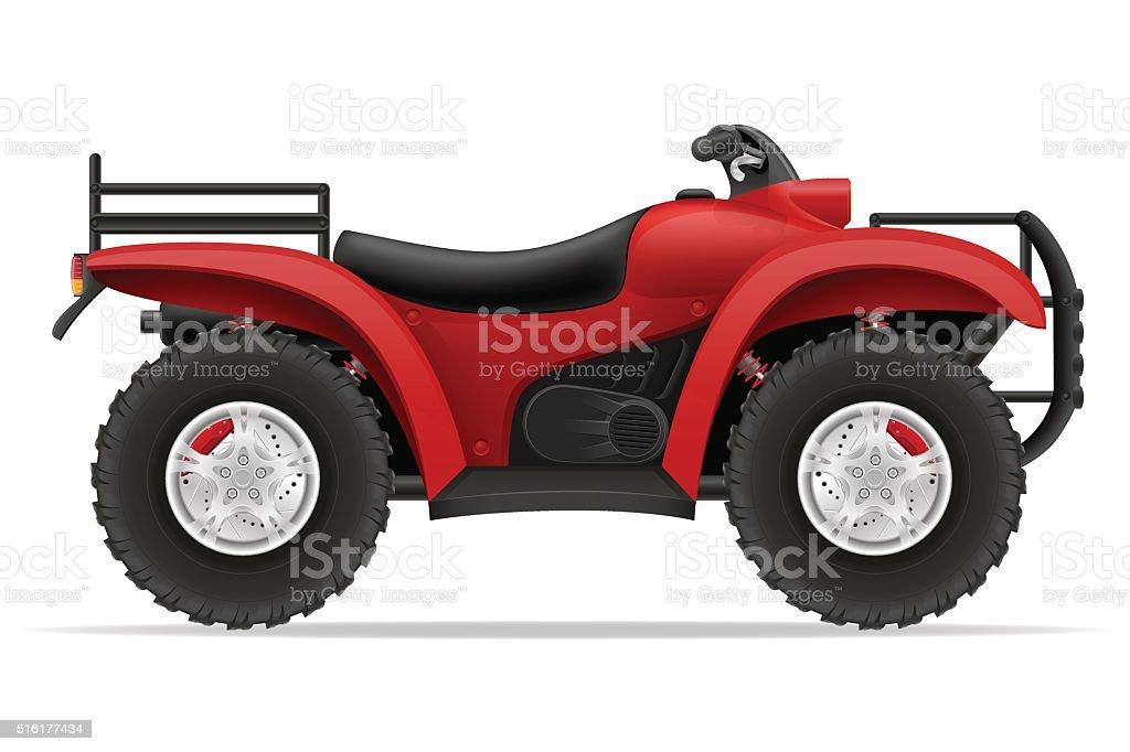 atv motorcycle on four wheels off roads vector illustration vector art illustration