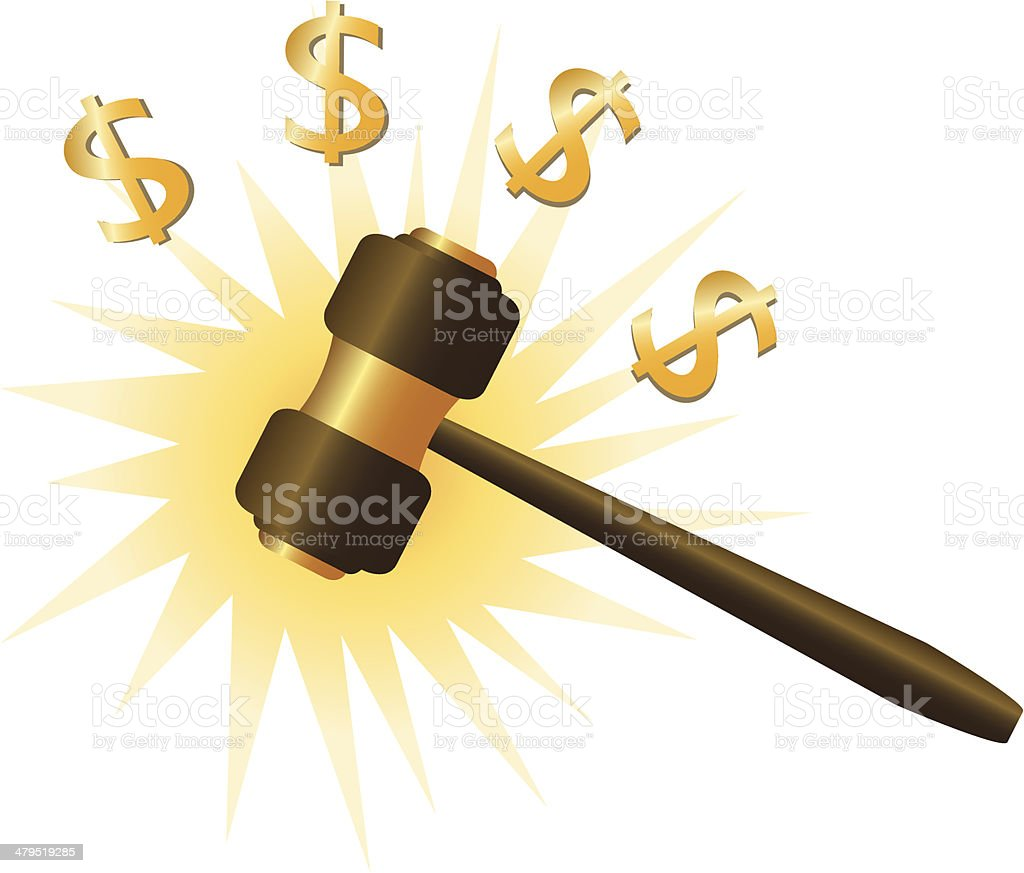 Auction hammer royalty-free stock vector art