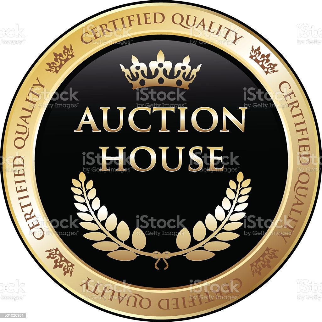 Auction House Gold Label vector art illustration