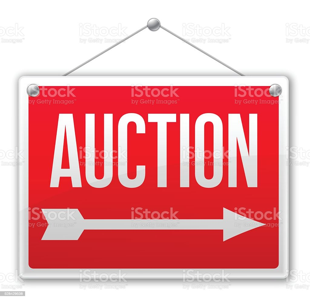 Auction Sign vector art illustration