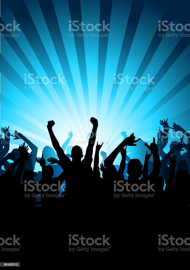 Audience at a Concert vector art illustration