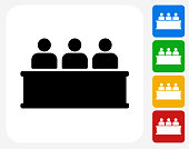 Audience Icon Flat Graphic Design
