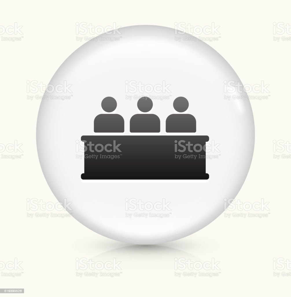 Audience icon on white round vector button vector art illustration