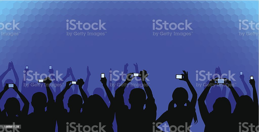 Audience on blue royalty-free stock vector art