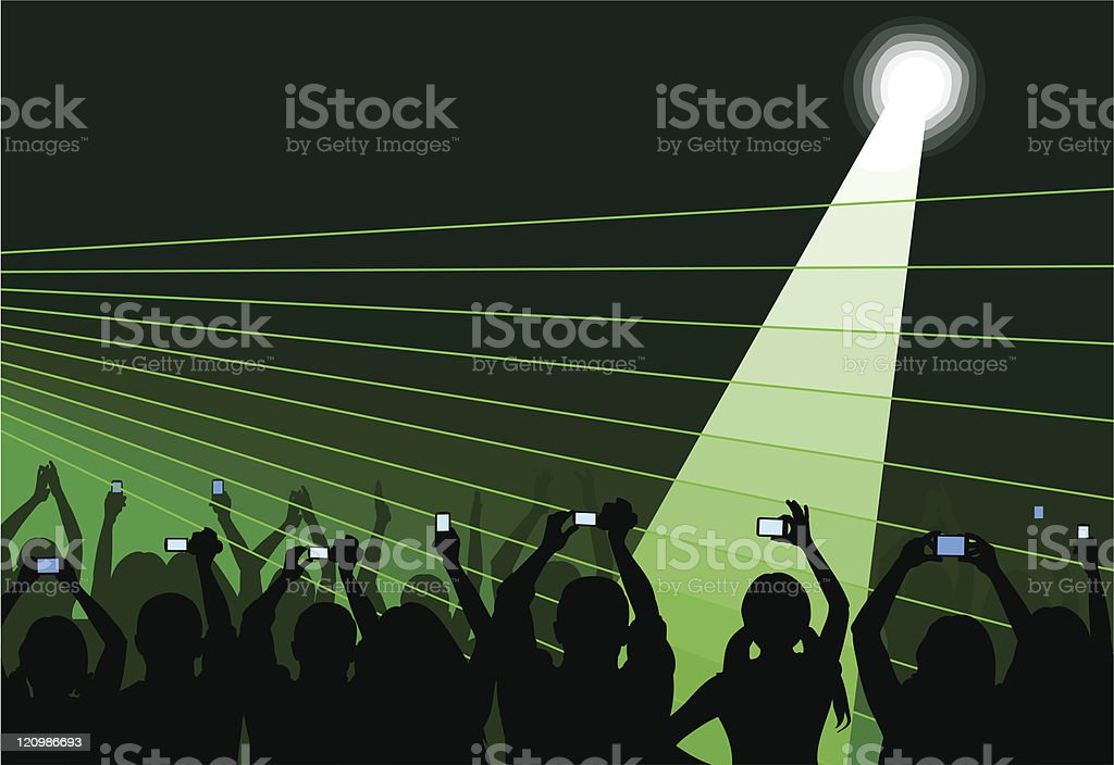 Audience on green royalty-free stock vector art