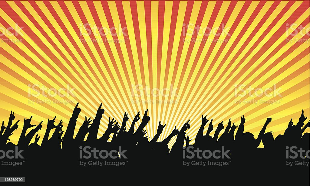 Audience silhouette illustration royalty-free stock vector art