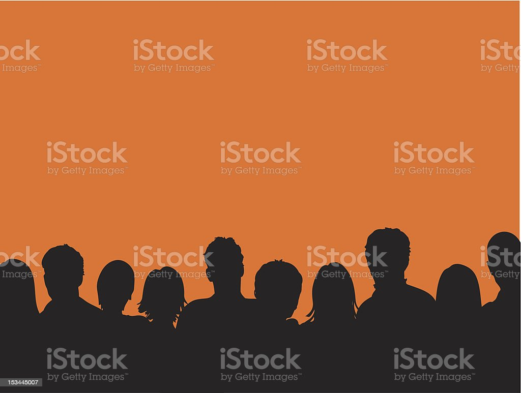 Audience vector art illustration