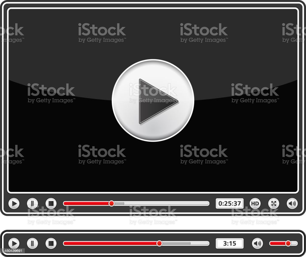 Audio and Video Players vector art illustration