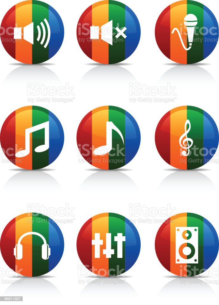 Audio  buttons. royalty-free stock vector art