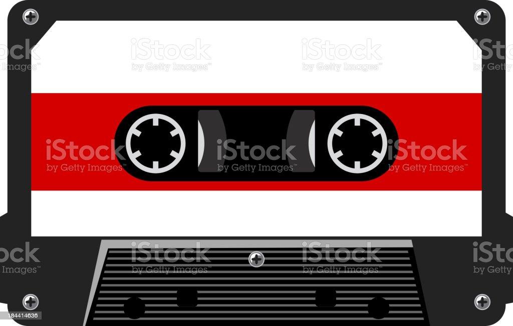 Audio cassette royalty-free stock vector art