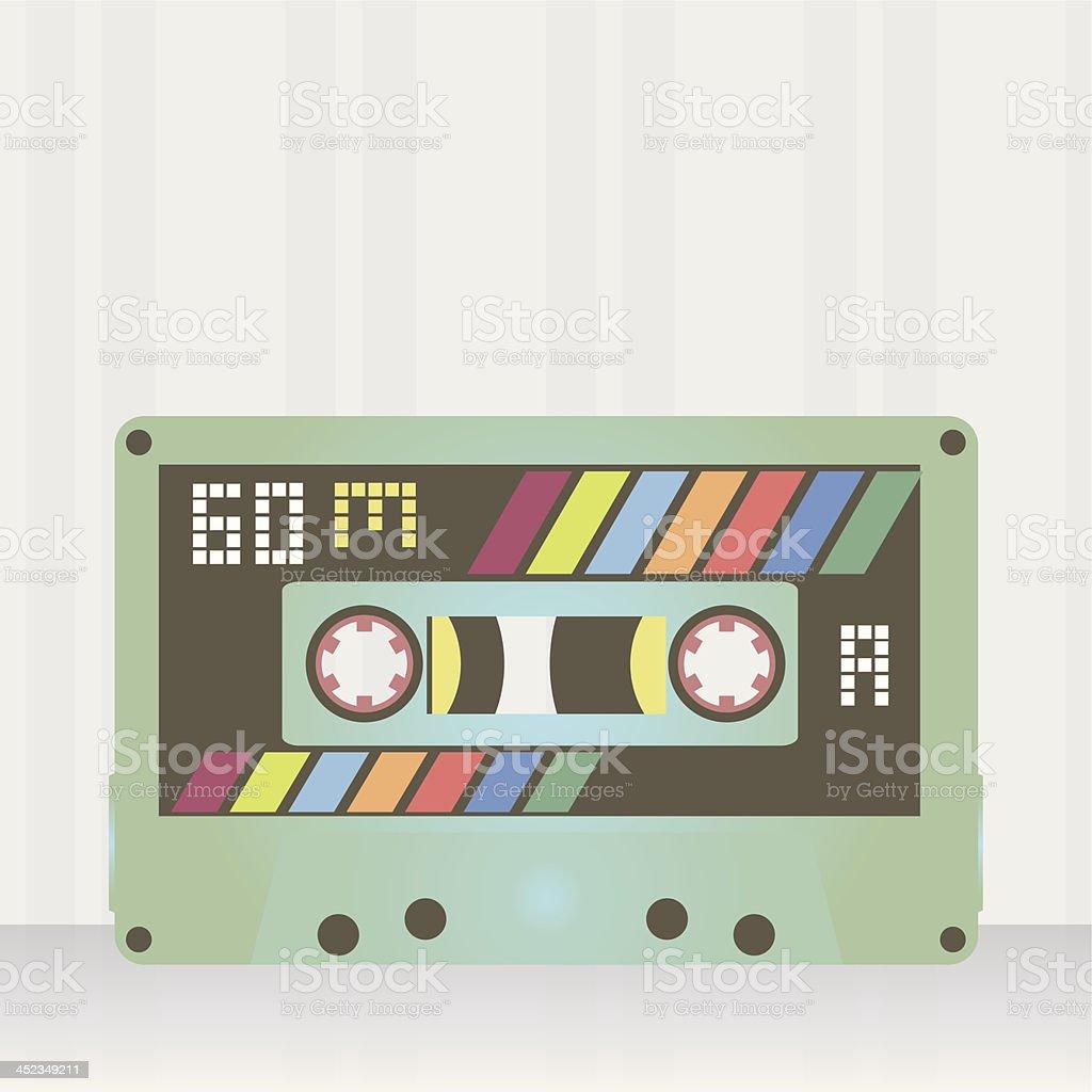 Audio cassette vintage royalty-free stock vector art