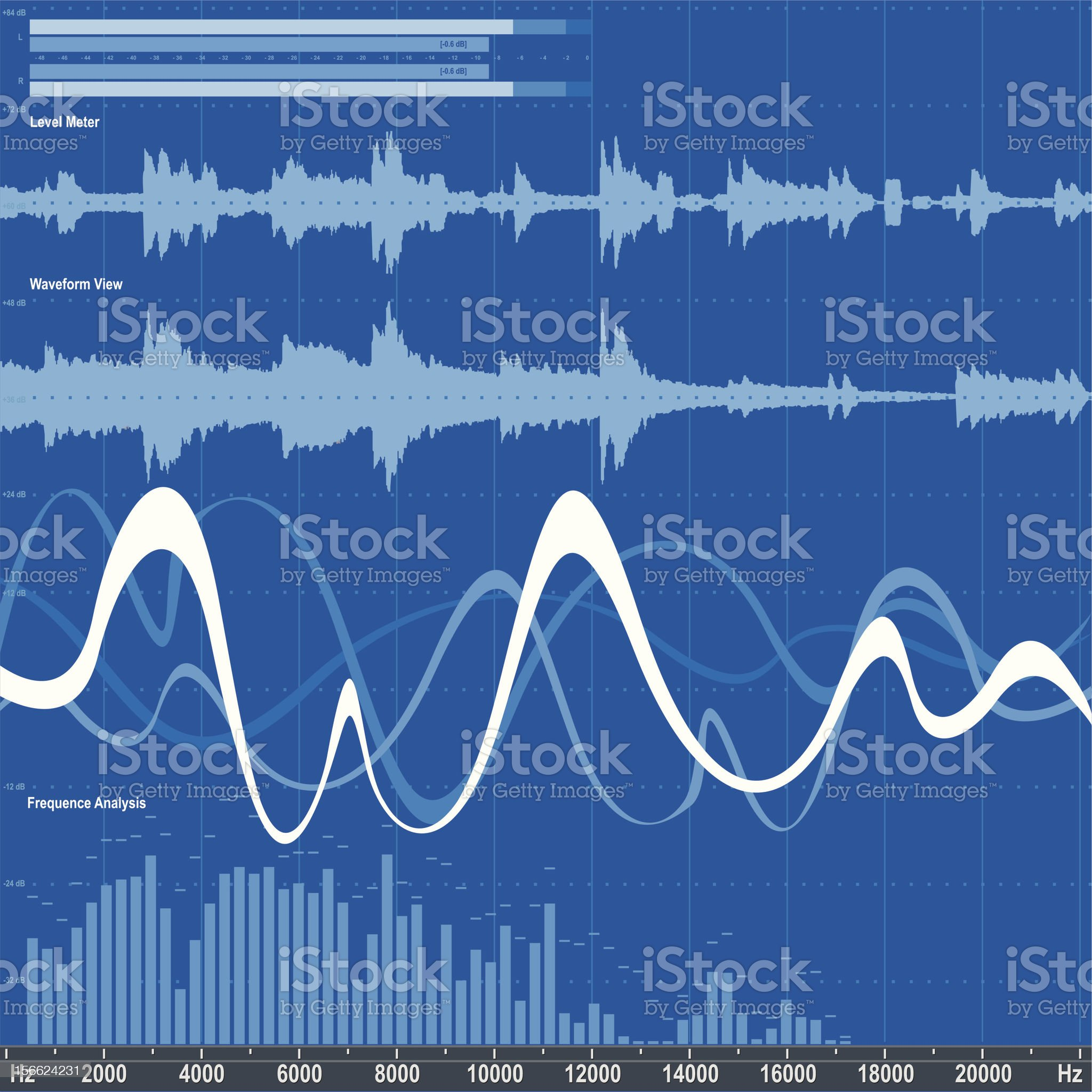 Audio equalizer royalty-free stock vector art