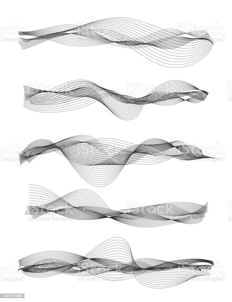 Audio equalizer vector art illustration