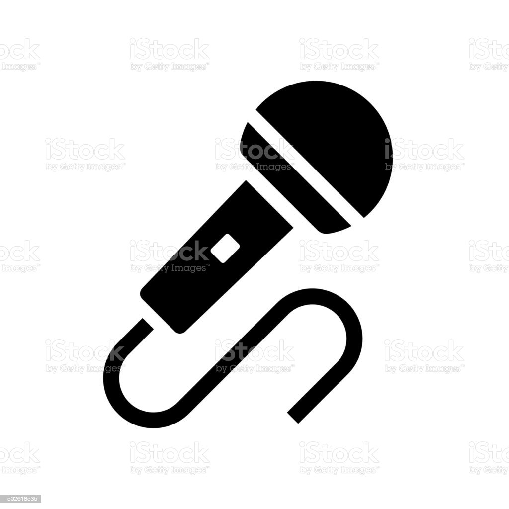 Audio Microphone Icon Vector royalty-free stock vector art
