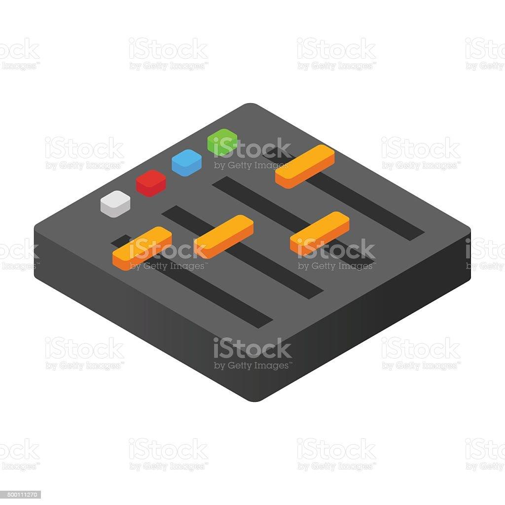 Audio mixer isometric 3d icon vector art illustration
