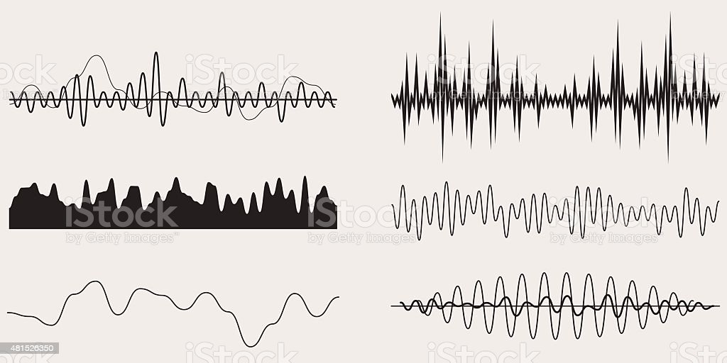 Audio Music Sound Wave,Vector Set vector art illustration