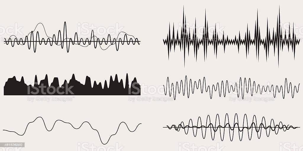 Audio Music Sound Wave,Vector Set vector art illustration