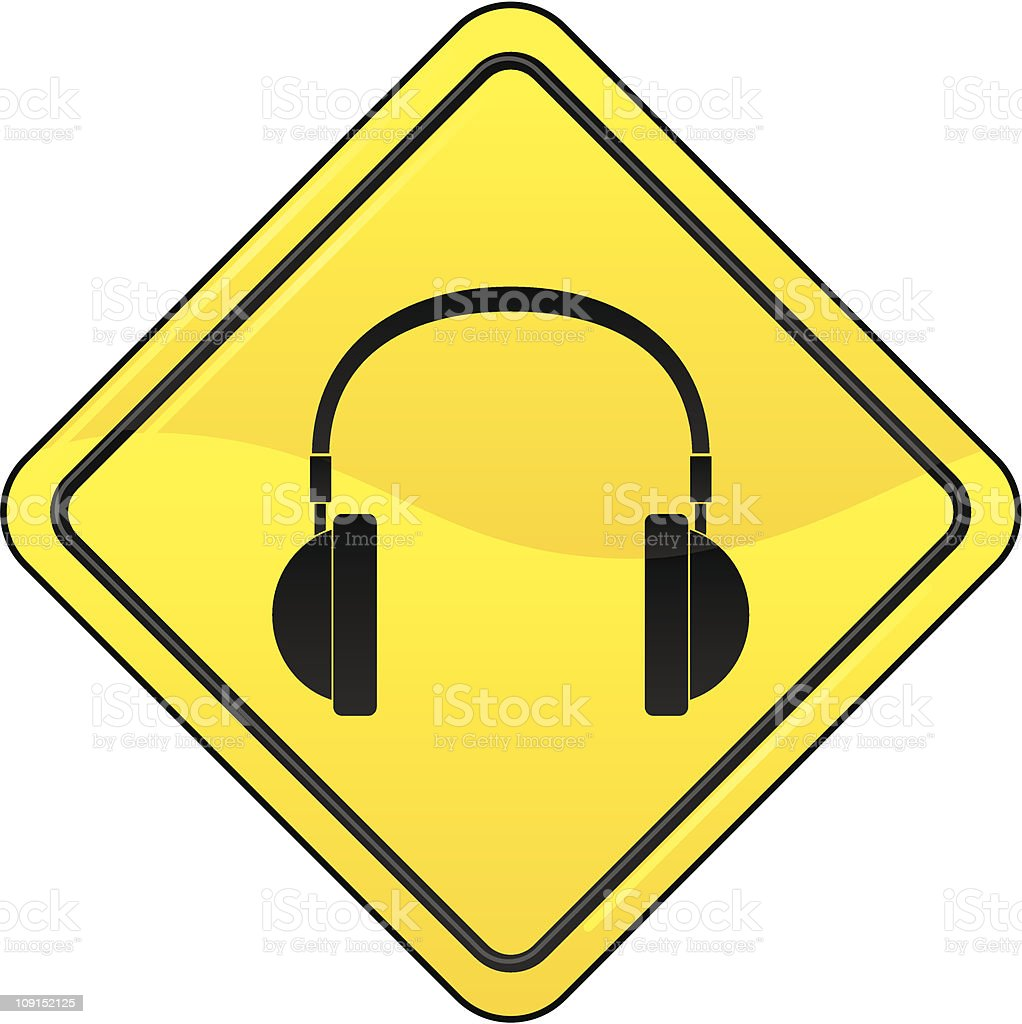audio sign vector art illustration