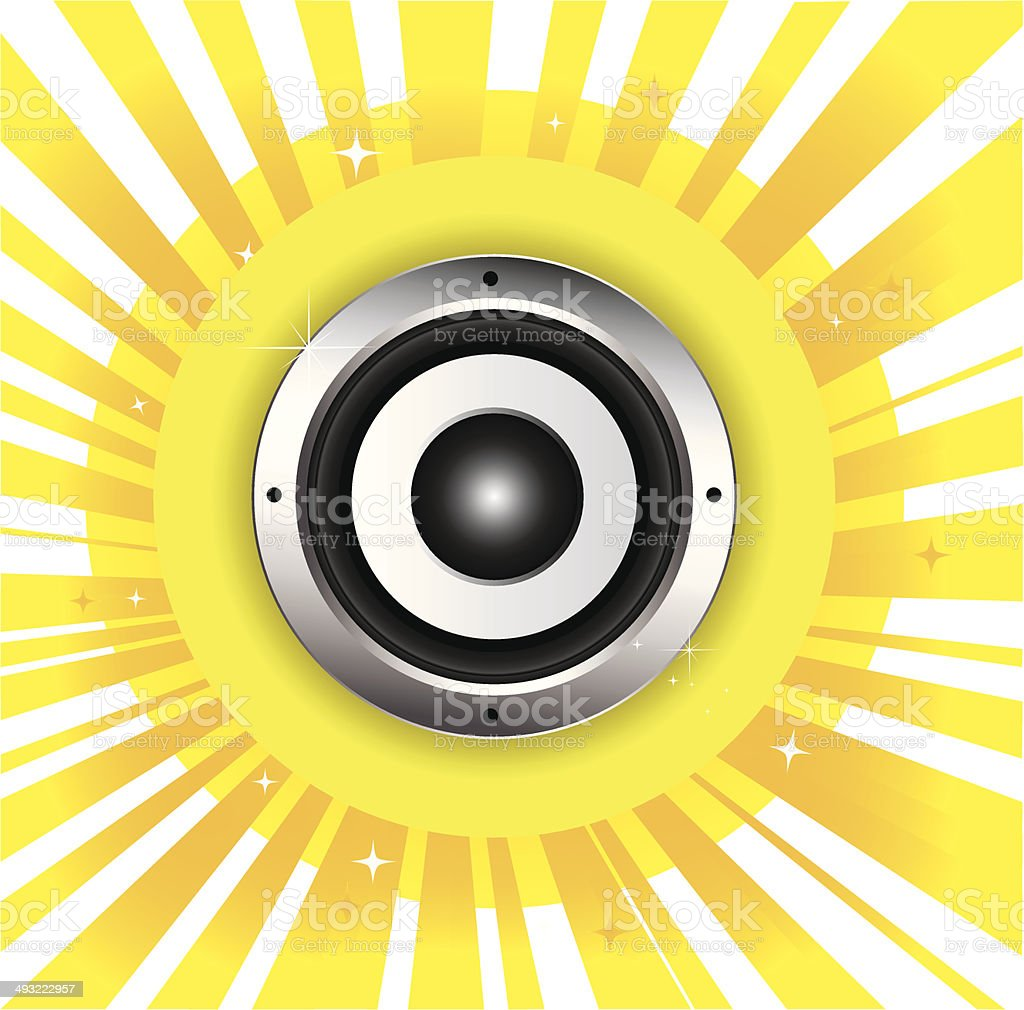 Audio speaker royalty-free stock vector art