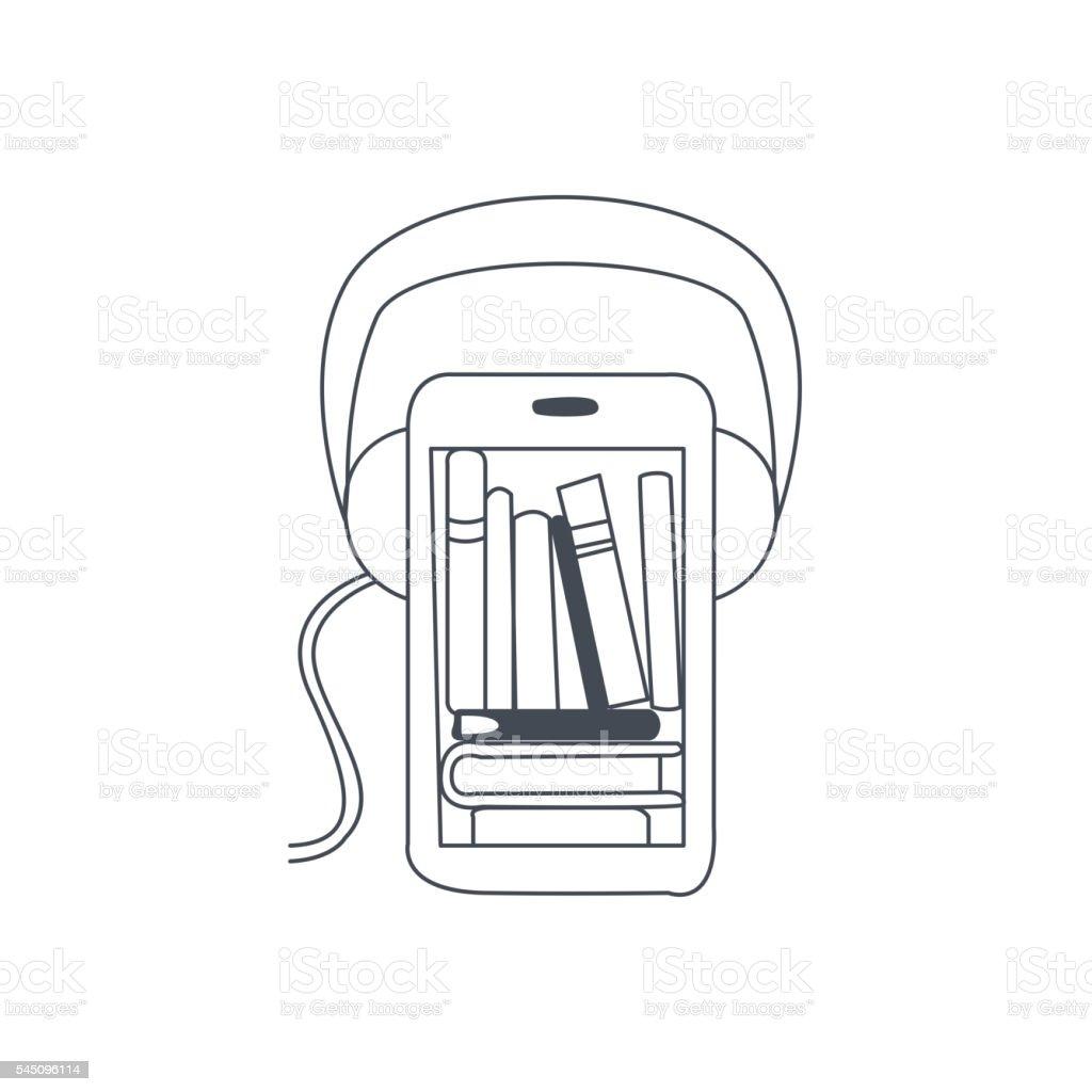 Audio Translation Smartphone App vector art illustration