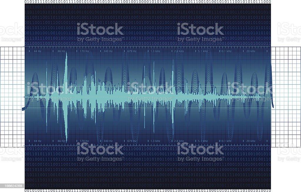 Audio Waveform background royalty-free stock vector art