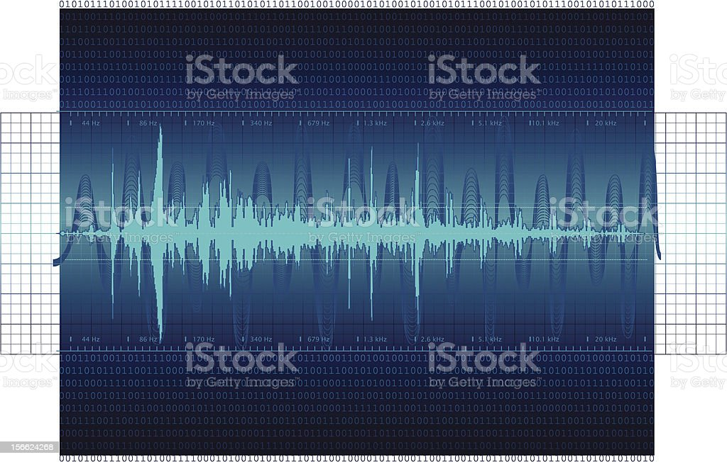 Audio Waveform background vector art illustration
