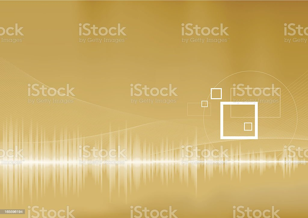 Audio waves royalty-free stock vector art