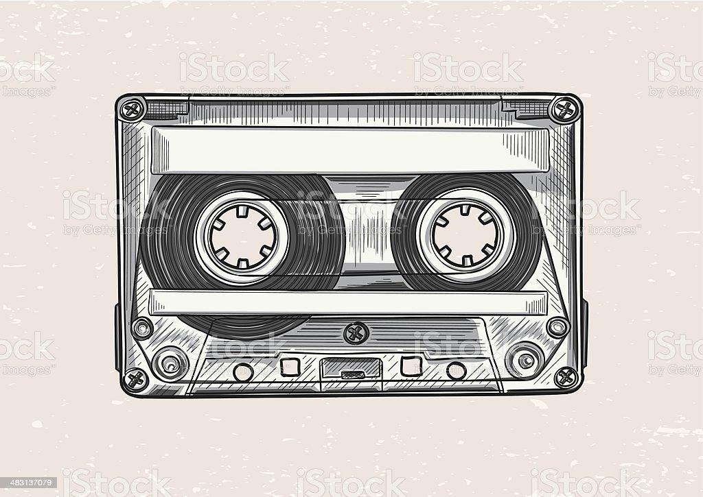Audiocassette royalty-free stock vector art