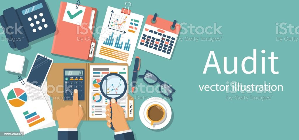 Auditing concepts vector vector art illustration