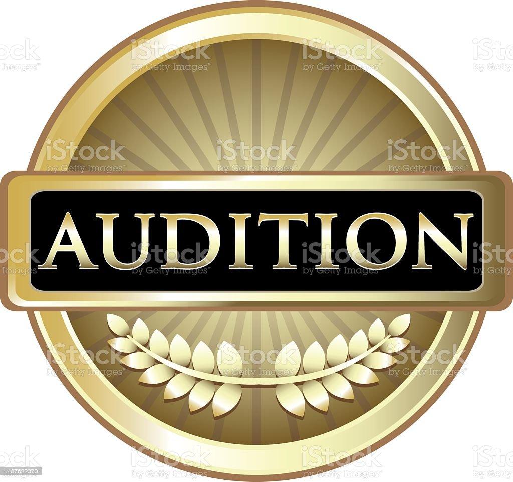 Audition Gold Label vector art illustration